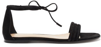 Gianvito Rossi Ankle-tie Suede Sandals - Womens - Black