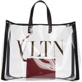 Valentino Transparent Garavani Large VLTN PVC Tote