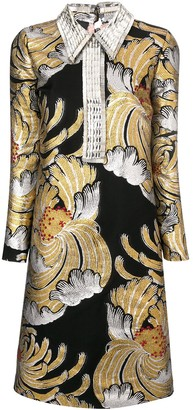 Rochas Metallic Brocade Dress