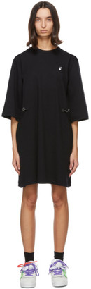 Off-White Black Flock Arrows Coulisse Dress