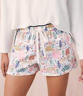 Lou & Grey Cactus Satin Shorts