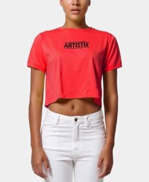 Artistix Cotton Logo Graphic Cropped Top