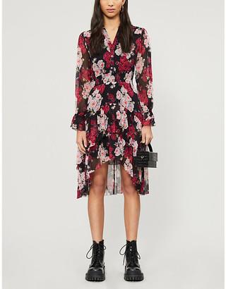 The Kooples Floral print chiffon midi dress