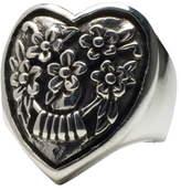 Femme Metale Jewelry Floral Heart Ring