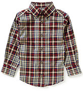 Class Club Little Boys 2T-7 Button-Front Plaid Shirt
