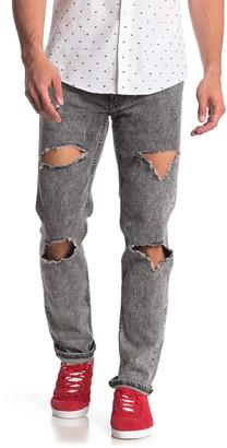 """Levi's 511 Slim Snowcar Distressed Jeans - 29-32"""" Inseam"""