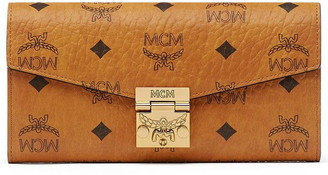 MCM Patricia Two Fold Wallet With Chain In Visetos