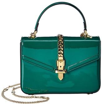 Gucci Sylvie 1969 Mini Patent Top Handle Shoulder Bag