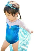 StylesILove.com StylesILove Frozen Inspired Metalic Girl Swimsuit with Cape and Hat Set, ( / 100)