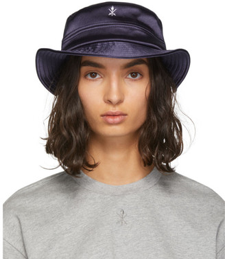 Opening Ceremony Navy Satin Bucket Hat