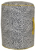 Room Essentials Pouf - Black Dots with Yellow Accent - Room Essentials