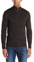 Savane Men's Quarter-Zip Ribbed Sweater