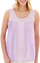 JCPenney A.N.A a.n.a Pleated Tank Top