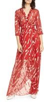 BA&SH Hali Metallic Print Silk Blend Maxi Dress