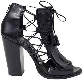 Neil Barrett Black Leather Heels