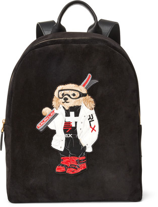 Ralph Lauren Ski Bear Suede Backpack