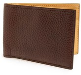 Magnanni Men's 'Rugohan' Grainy Leather Bifold Wallet - Brown