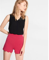Express smooth scalloped-hem shorts