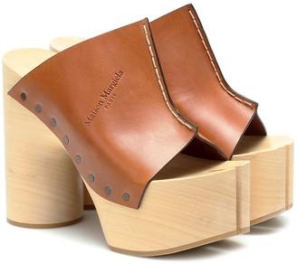 Maison Margiela Tabi leather platform sandals