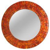 Jeffan Cameron 24-Inch Round Mirror in Orange