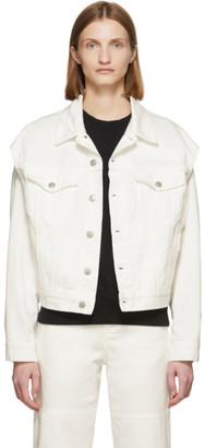 MM6 MAISON MARGIELA Off-White Denim Arm Cut Outs Jackets