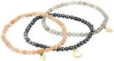 Dee Berkley Love Is In The Air in Gold Tone Labradorite, Moonstone and Hematite Set (Multi) Bracelet