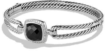 David Yurman Albion Bracelet with Black Onyx and Diamonds
