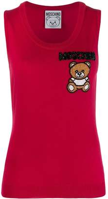 Moschino Bear embroidered jumper