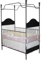 The Well Appointed House Black Wrought Iron Canopy Crib with Garlands