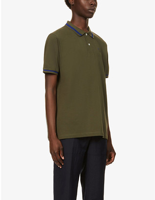 Loewe Logo-embroidered cotton-jersey polo shirt