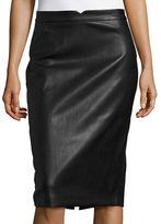 Context Faux Leather Pencil Skirt