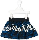 MonnaLisa embroidered logo skirt