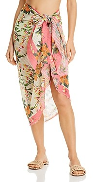Echo Bluebell Vines Wrap Pareo Swim Cover-Up