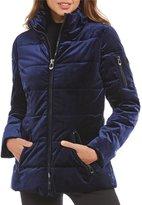 Gianni Bini Velvet Puffer Coat