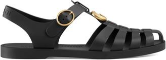 Gucci Rubber buckle strap sandal