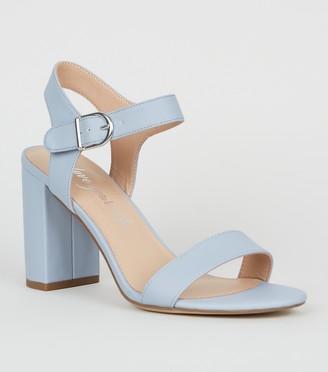 New Look Leather-Look 2 Part Block Heel Sandals