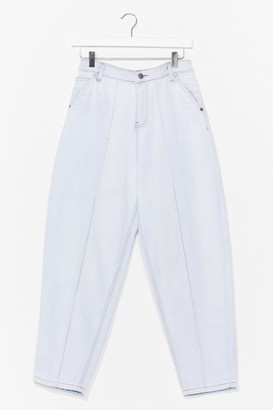 Nasty Gal Womens Put a Crop to It High-Waisted Jeans - White - 4