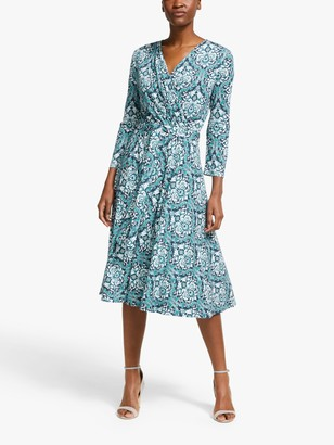 Max Mara Weekend Acqua Printed Jersey Dress, Blue/Multi