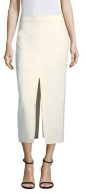 Yigal Azrouel Suiting Slit Midi Skirt