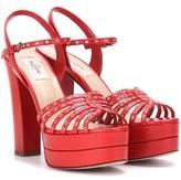 Valentino Platform Leather Sandals