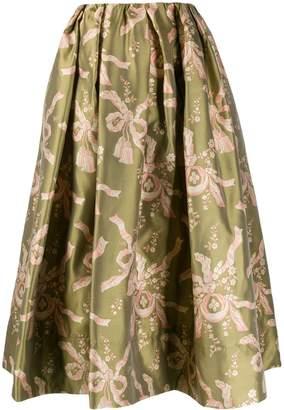 Simone Rocha Bow Print Full Skirt