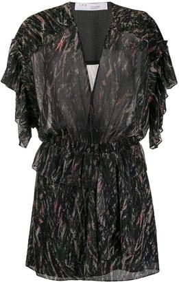 IRO Printed Lurex Mini Dress