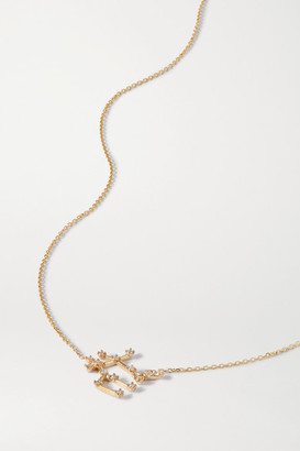 Sebastian Celestial Gemini 10-karat Gold Diamond Necklace