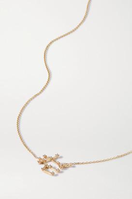 Sebastian Celestial Gemini 10-karat Gold Diamond Necklace - one size