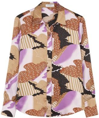 Equipment Sedienne Printed Silk-satin Shirt