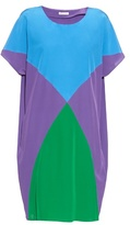 Tomas Maier Colour-block short-sleeved silk dress