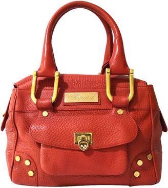 "Chopard Red Leather ""Happy Diamond"" Caroline Bag"