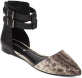 BCBGeneration Teyana Pointed-Toe Ankle-Strap Flat - Black