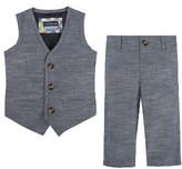 Andy & Evan Infant Boy's Chambray Vest & Pants Set