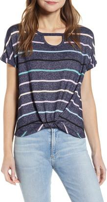 Wit & Wisdom Cutout Scoop Neck Twist T-Shirt